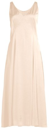 Elie Tahari The Olive Satin Slip Dress