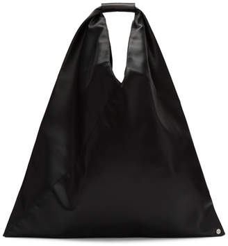 MM6 MAISON MARGIELA Black Medium Faux-Leather Tote