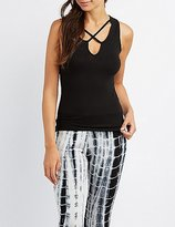 Charlotte Russe Ribbed Strappy Tank Top