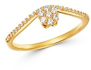 Bloomingdale's Cluster Diamond Chevron Ring in 14K Yellow Gold, 0.20 ct. t.w. - 100% Exclusive