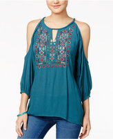 American Rag Embellished Cold-Shoulder Peasant Top, Only at Macy's