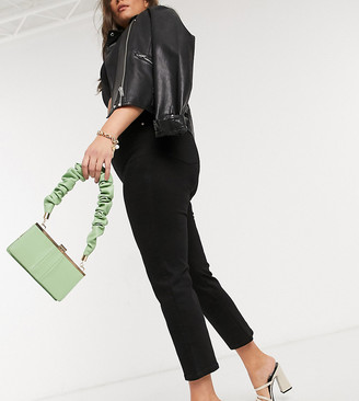 ASOS DESIGN Curve high rise 'sassy' cigarette jeans in black
