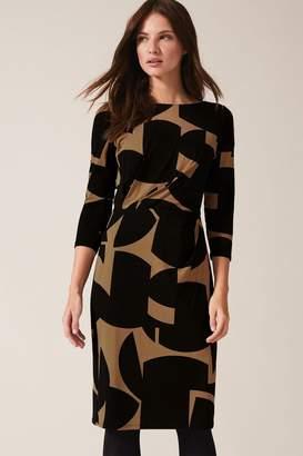 Phase Eight Womens Neutral Gretchen Print Dress - Natural