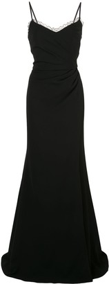 Marchesa Notte Side Slit Dress