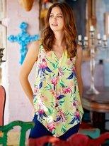 M&Co Floral print hanky hem top