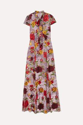 Alice + Olivia Roanne Floral-print Devore-chiffon Maxi Dress - Lavender