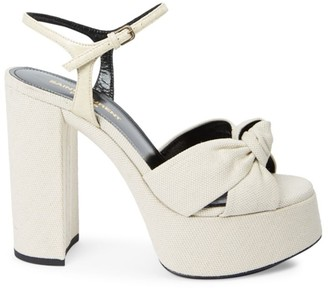 Saint Laurent Bianca Knot Platform Sandals