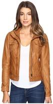 Lucky Brand Patch Pocket Leather Jacket Women's Coat