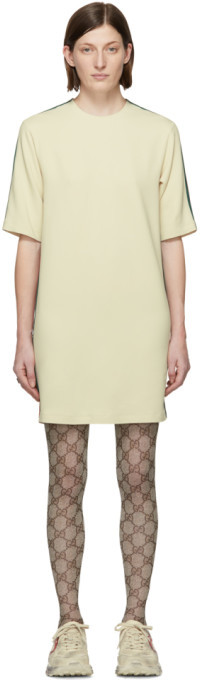 Gucci Off-White Cady Short Dress