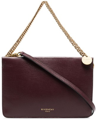 Givenchy burgundy Cross3 leather cross-body bag