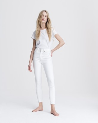 Rag & Bone Nina high-rise skinny - white