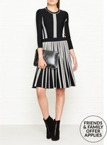 Karl Lagerfeld Black & White Rib Dress