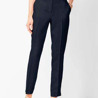 Talbots Linen Slim Ankle Pants - Solid
