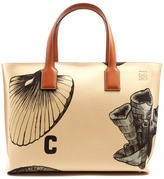 Loewe T Fossil-print canvas tote