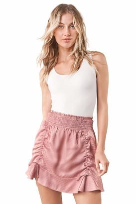 Sugar Lips Sugarlips Women's Northie Satin Smocked Mini Skirt