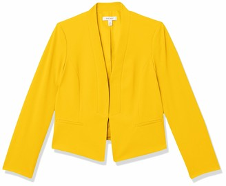 Nine West Women's Heavy Cool Crepe Long Lapel Open Jacket