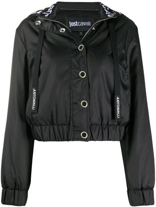 Just Cavalli Fitted Hooded Jacket