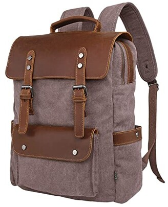 TSD BRAND Valley Hill Canvas Backpack