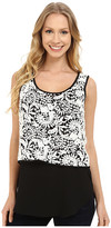 Karen Kane Double Layer Lace Tank Top