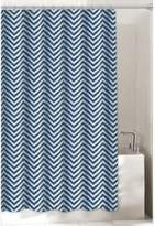 Bed Bath & Beyond Chevron 72-Inch x 96-Inch Shower Curtain in Navy