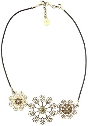 Gas Jeans Neige & Flocon Gold Metal Necklaces
