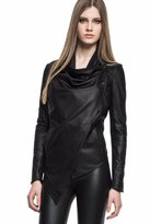 LAMARQUE - Frances Leather Cascade Jacket In Black