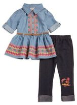 Little Lass Baby Girl's Graphic Print Tunic and Leggings Set
