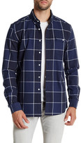 Saturdays Surf NYC Dorian Long Sleeve Windowpane Shirt