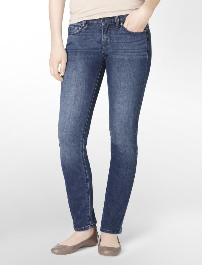 Calvin Klein Jeans Straight Leg Indigo Wash Jeans