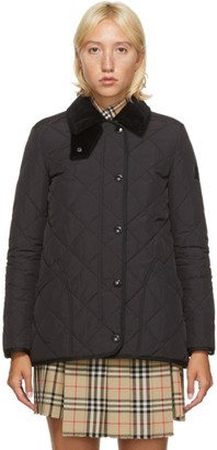 Burberry Black Quilted Cotswald Jacket