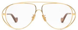 Loewe Aviator Metal Glasses - Gold