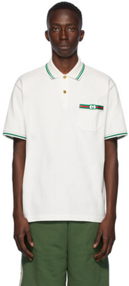 Gucci White Interlocking G Polo