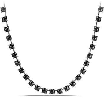 David Yurman 9mm Châtelaine Linear Hematine Necklace with Diamonds