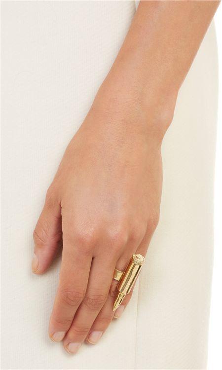 Jennifer Fisher Women's Single Bullet Ring-Colorless