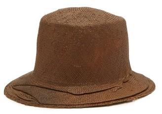 Reinhard Plank Hats - Winkled Straw Bucket Hat - Brown