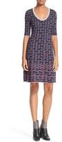 M Missoni Women's Metallic Trim Stripe Knit Dress