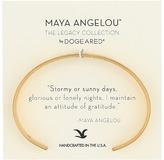 Dogeared Maya Angelou: Attitude of Gratitude: Thin Cuff Bracelet Bracelet