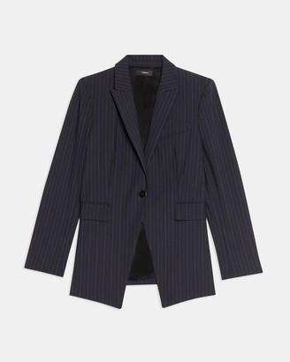 Theory Etiennette Blazer in Striped Good Wool