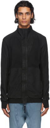 Boris Bidjan Saberi Black Hybrid Zip-Up Hoodie