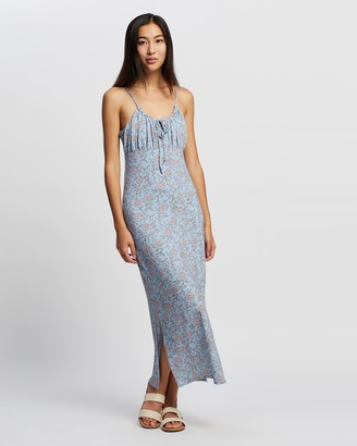 Tigerlily Women's Blue Midi Dresses - Aurora Hazel Dress - Size 10 at The Iconic