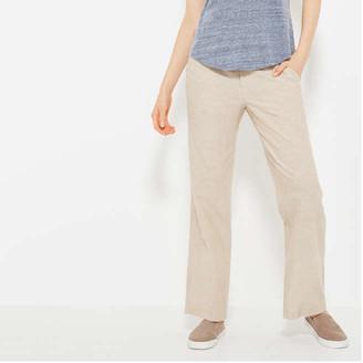 Joe Fresh Women's Wide Leg Linen Pants, Light Khaki Brown (Size S)