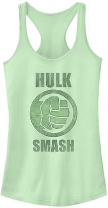 "Smash Wear Licensed Character Juniors' Marvel ""Hulk Icon Logo Tank"