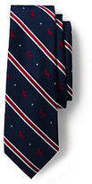 Lands' End Men's Silk Democrat Necktie-Right Wing