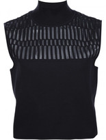 Thierry Mugler cropped knit top