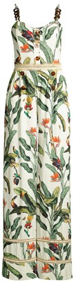 PatBO Tropical-Print Wide-Leg Jumpsuit