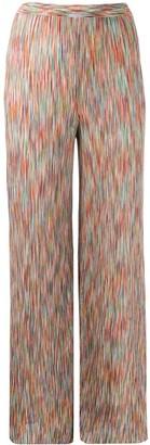 Missoni Intarsia Knit Flared Trousers