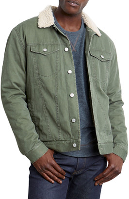 Rails Men's McKinley Canvas Faux-Sherpa Collared Jacket