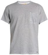 Burberry Crew-neck striped cotton-blend T-shirt