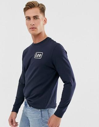 Lee long sleeve stripe t-shirt in navy