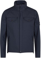 C.p. Company Navy Water-resistant Brushed Shell Jacket